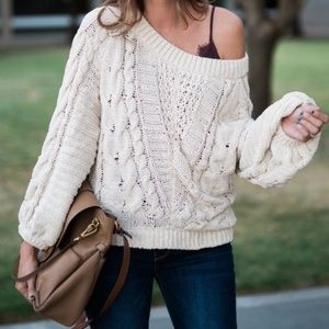 Express cream sweater